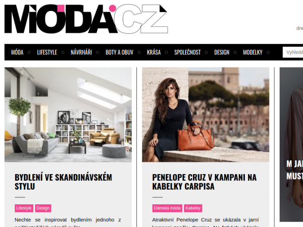 Moda.cz screenshot